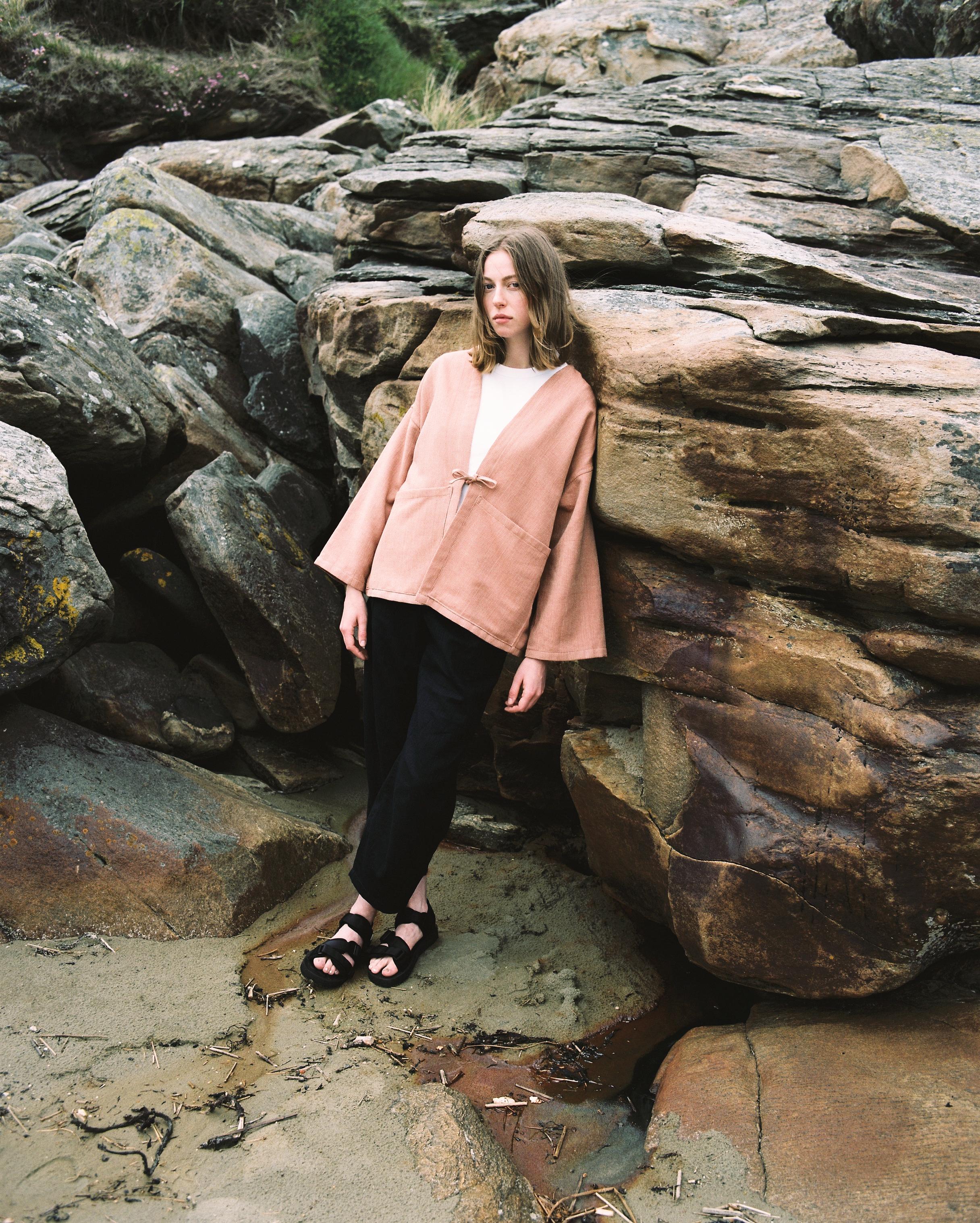 Shirt: Herringbone Haori Trousers: Workshop