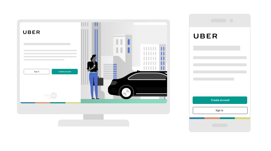 The EduMe low friction self-registration flow is ideal for companies like Uber.