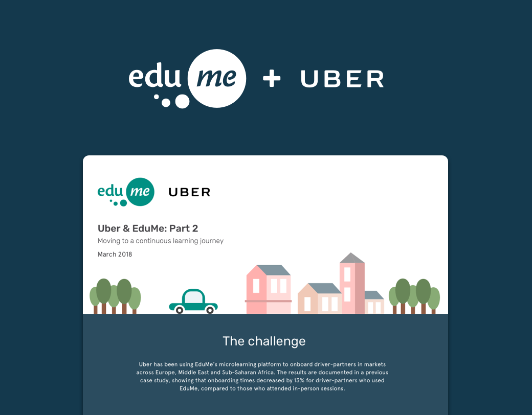 Uber & EduMe Case Study: Part 2 - Moving to a continuous