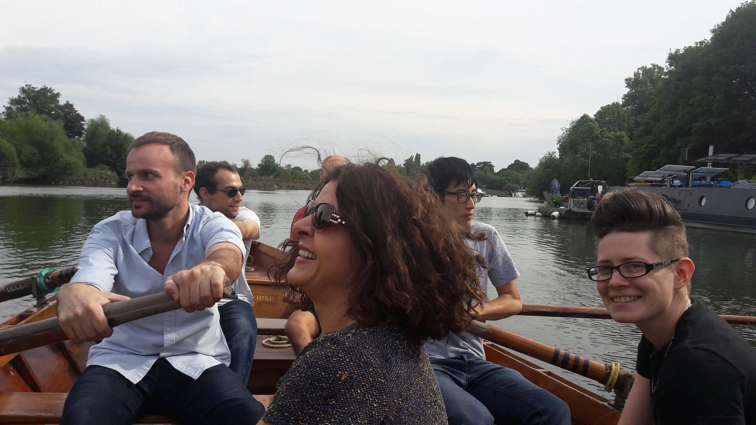 The EduMe team out on the river