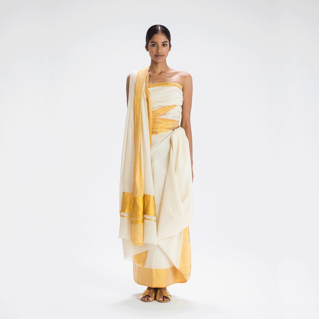 Adivasi sari drape from Kerala