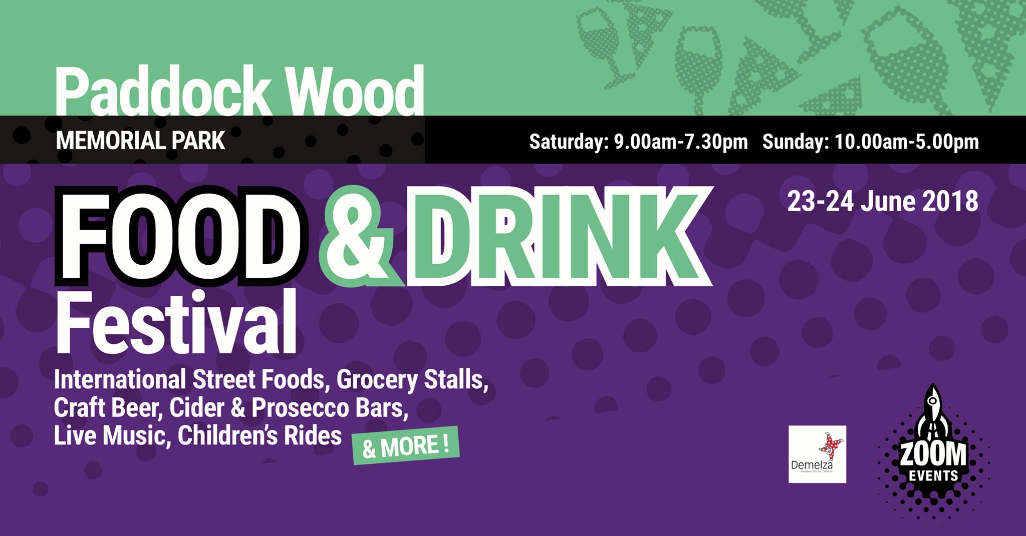 M&M will be playing 2 45 minute sets at Paddock Wood Food & Drink Festival from 2pm - 4pm.