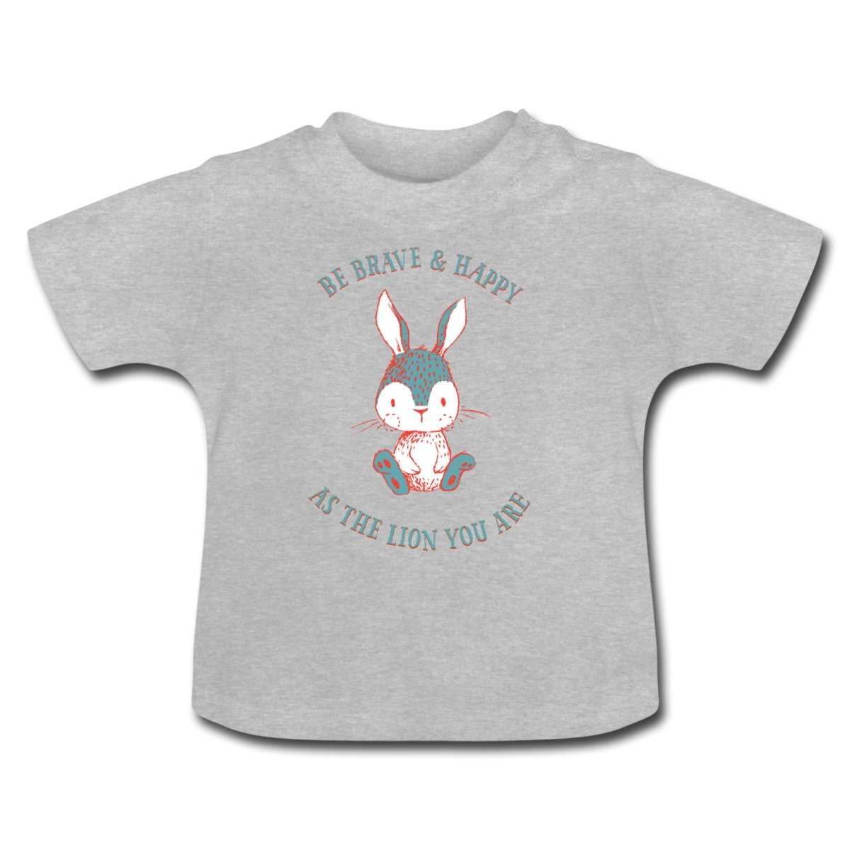 Grå baby t-shirt med kanintryck 189 kr