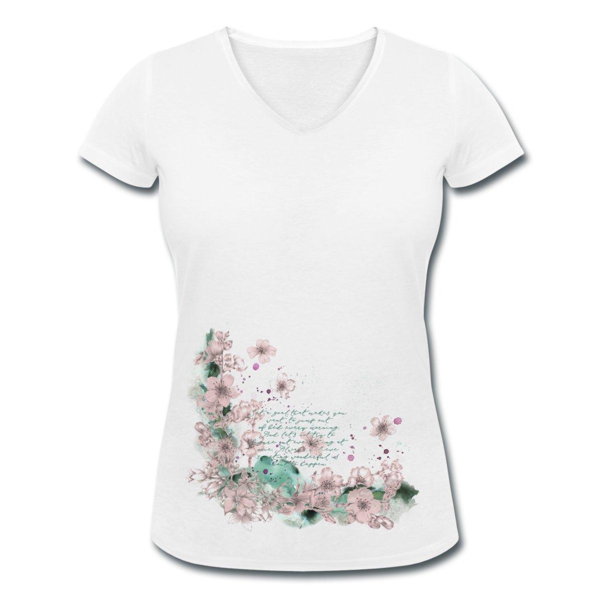 V-ringad t-shirt i ekologisk bomull