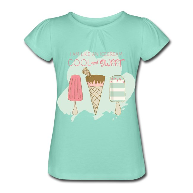 T-shirt för flicka. Tryck av glass. Luckimi @luckimibrand www.luckimi.com