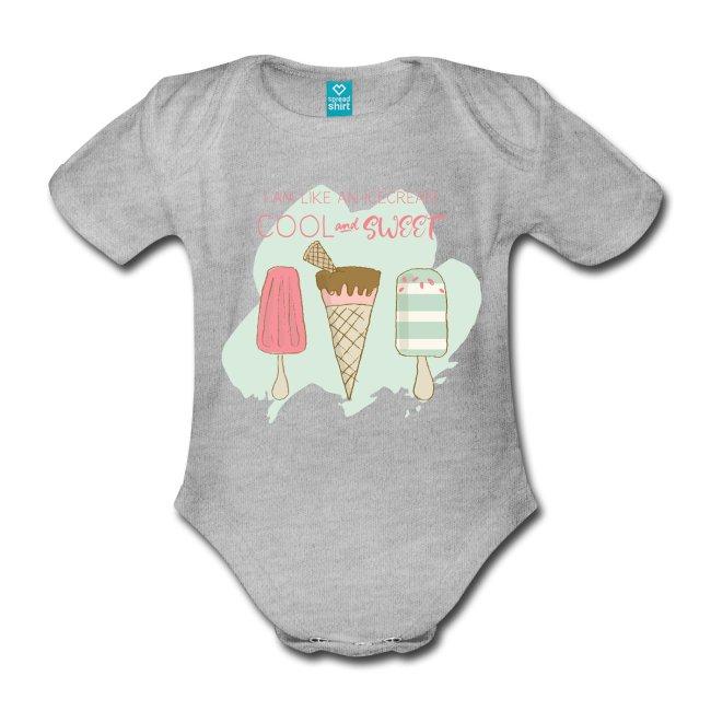 Baby t-shirt med tryck av glass. Luckimi @luckimibrand www.luckimi.com
