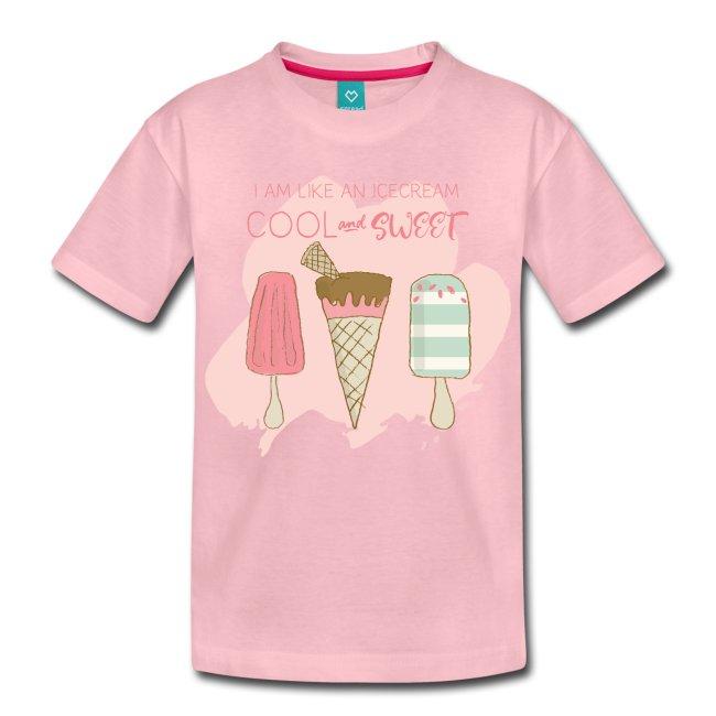 Barn t-shirt med tryck av glass. Luckimi @luckimibrand www.luckimi.com