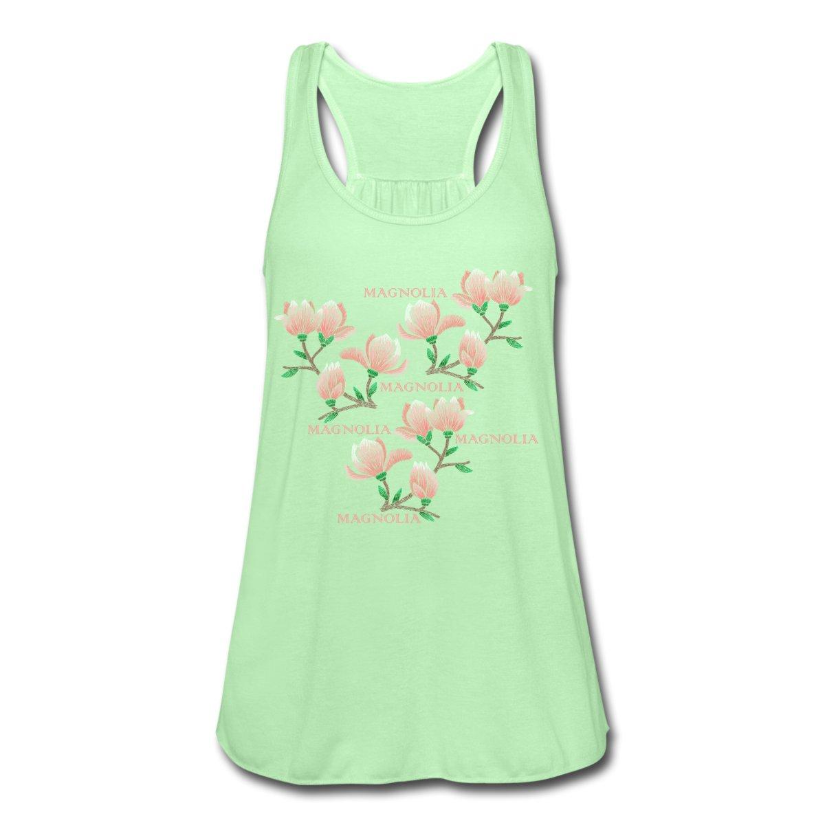 Ekologiskt linne, dam. Tryck av magnolia. www.luckimi.com @luckimibrand
