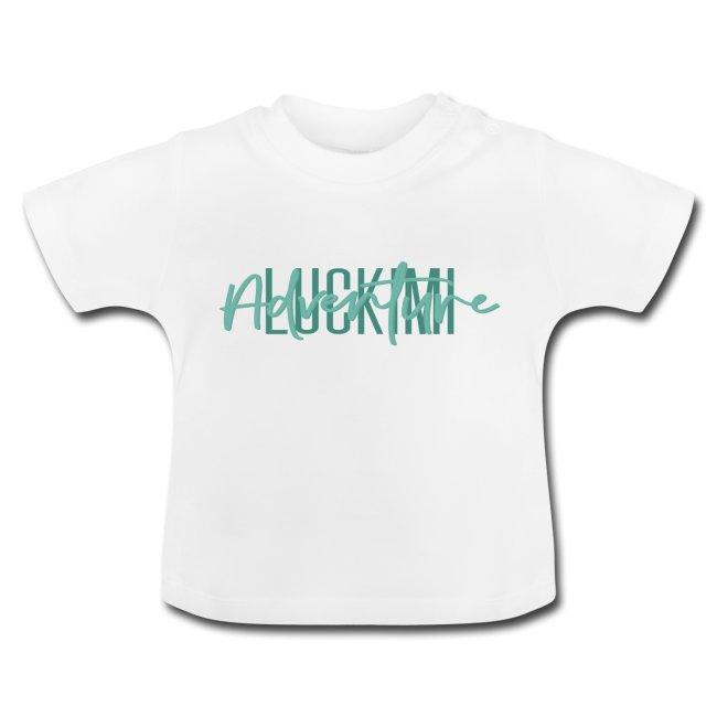 Baby t-shirt med knappar på axeln. Luckimi Adventure. @luckimibrand www.luckimi.com