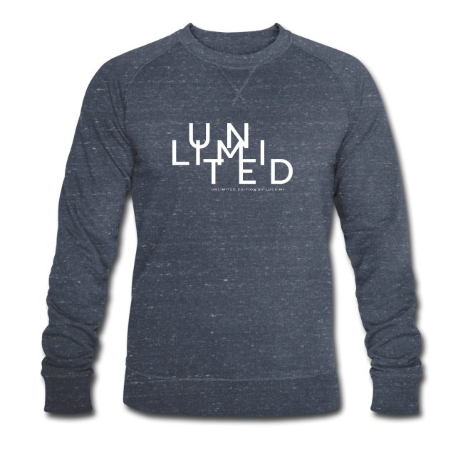 Navy blue melange sweatshirt for men with print Unlimited. www.luckimi.com @luckimibrand.com