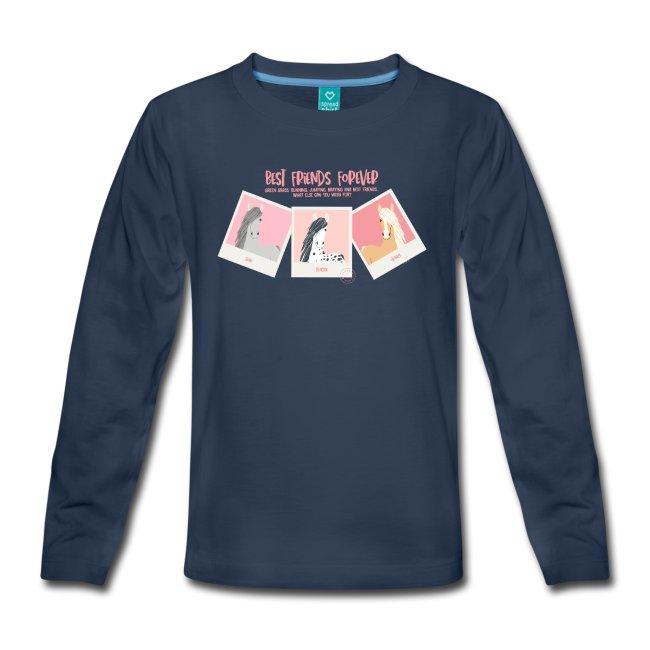 Långärmad barn t-shirt med tryck Best horse friends forever. www.luckimi @luckimibrand