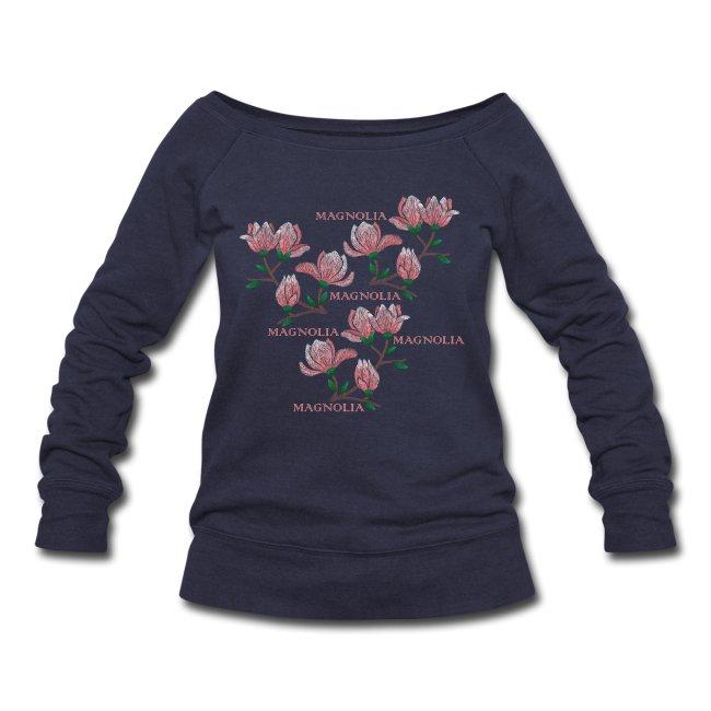 Longsleeve ladies sweatshirt with print Magnolia. @luckimibrand Luckimi