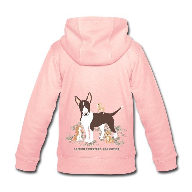 Hoodie for kids with print Dog Edition. www.luckimi.com @luckimibrand.com