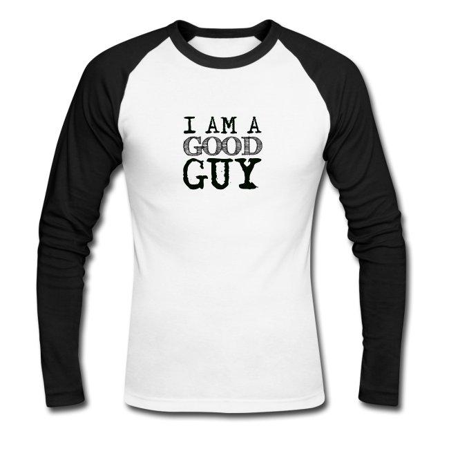 Longsleeve baseball t-shirt with print I am a good guy. www.luckimi.com @luckimibrand