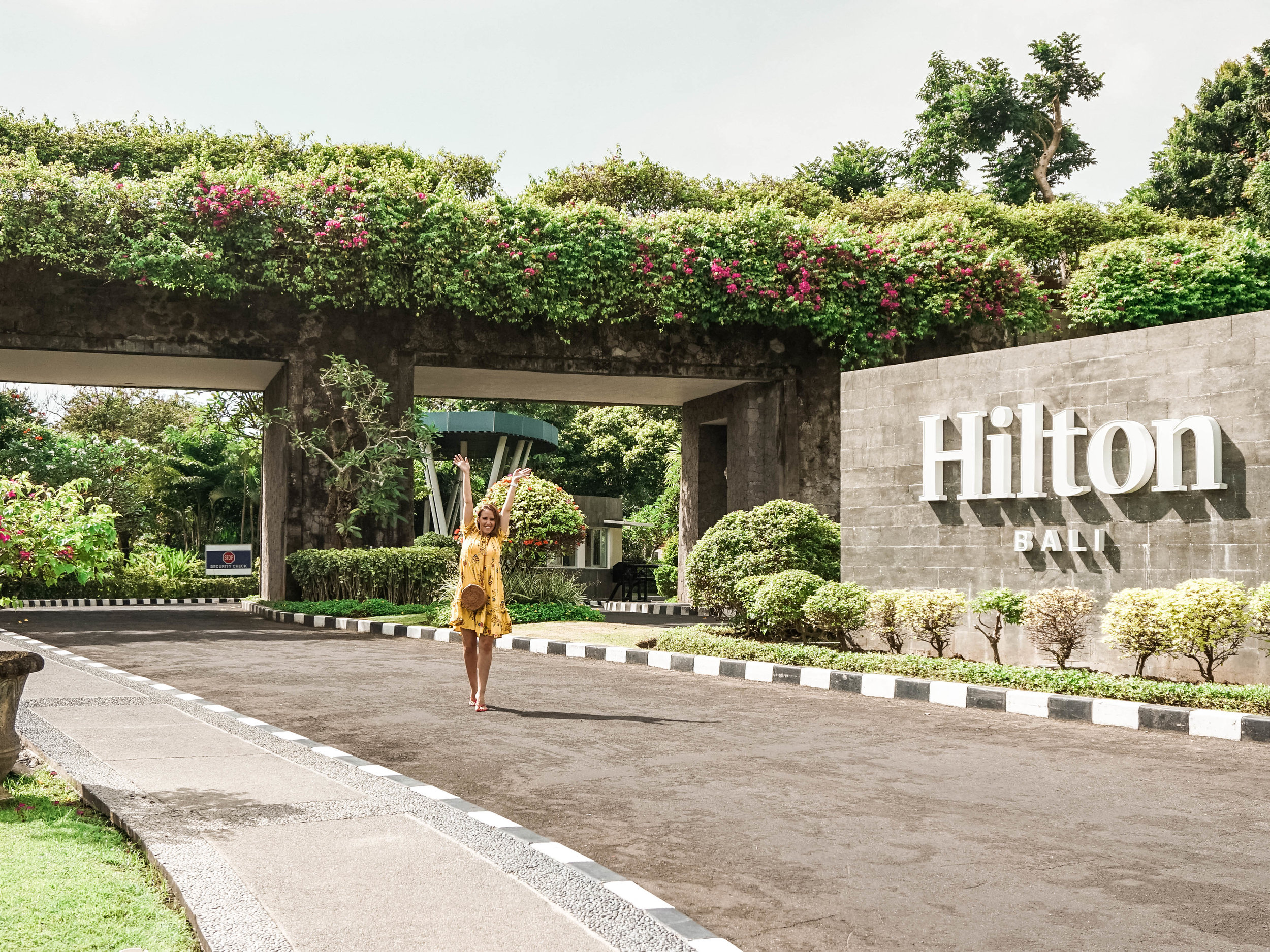 Entry to the Hilton Bali Resort - the prettiest hotel entrance ever!