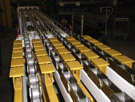 Trogkettenförderer Type KT  als Schwerlast-Palettenförderer