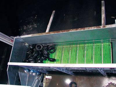 Kettenförderer Type PB  als Materialbunker