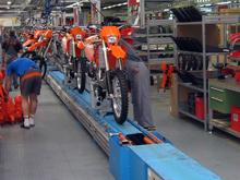 Montageband für Motorradindustrie