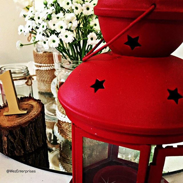 We love that all it takes to add a dramatic swathe of colour . . . is to add the smallest element. . Our simple red lanterns look so whimsical on a rustic table setting.