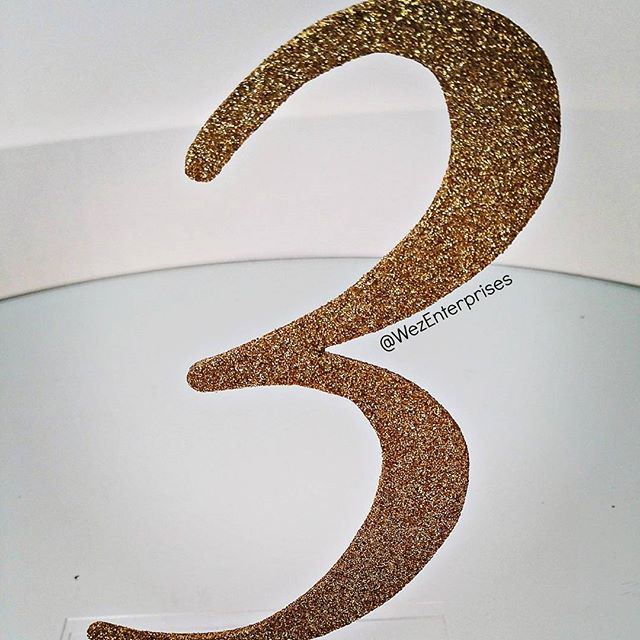 Add a tiny bit of glitter to your #WeddingTable, with our table numbers.......luvin it