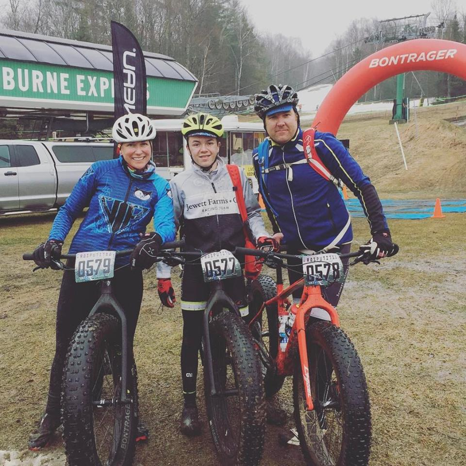 The Lord Family (Matthew, Henry, Olivia). Missing from the image: Poppy. We anticipate her on the Rasputitsa Gravel Team in years to come.