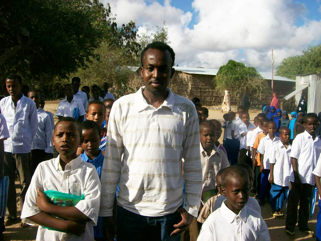 First day at the RAJO school, the students are in their uniforms ready to learn