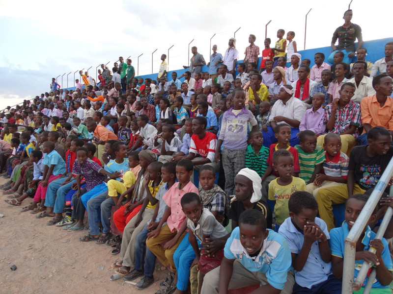 The region's people come to watch the games