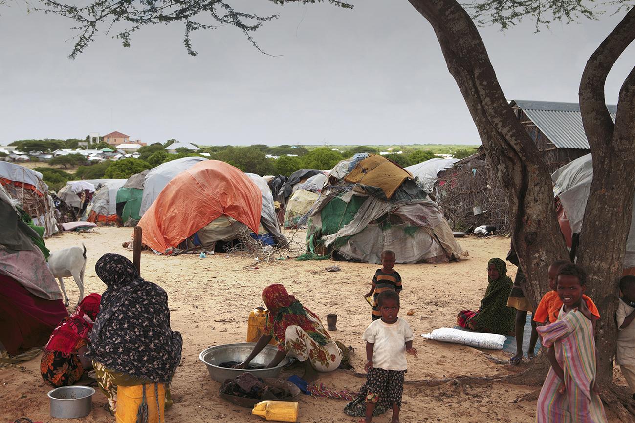 Le camp de réfugiés à Hawa Abdi, Somalie