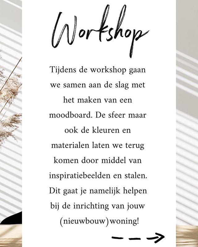 WORKSHOP - Donderdag 27 juni organiseer ik een leuke workshop. Ben je er ook bij? #interieuradvies #wooninspiratie #workshop