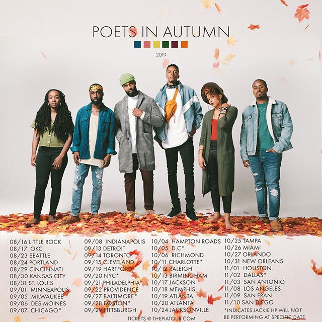 #PoetsInAutumn 2019 is coming to your city with new pieces, new production but the same passion 🔥  Here's your chance to Win Tickets and more:  1.  Repost Flyer 2.  Use #thepiatour 3.  Tell us what city we will see you at  Choosing 10 winners for tickets Friday