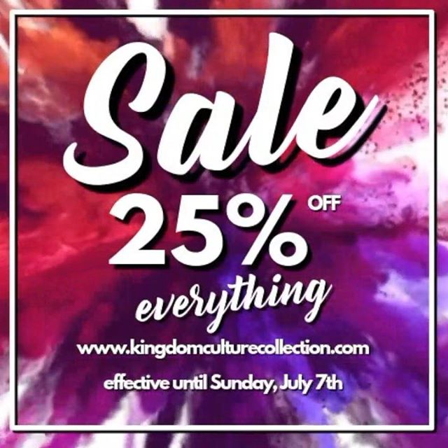 #july4sale in full effect! 🗣EVERYTHING 25% OFF 😁 SHOP NOW -  KingdomCultureCollection.com |#LinkInBio . . . . . #ForTheCulture #KingdomCulture #Faith #Fashion #FaithandFashion #StreetWear #Dope #TopNotch #PremiereClothing #ExclusiveApparel #KingdomPromo #Clothing #Exclusive #WomensFashion #MensFashion #Urban #UrbanApparel #HighFashion #Style #HighFashion #LowPrices #ootd #Cute #Fashionista #Instafashion #Motivation
