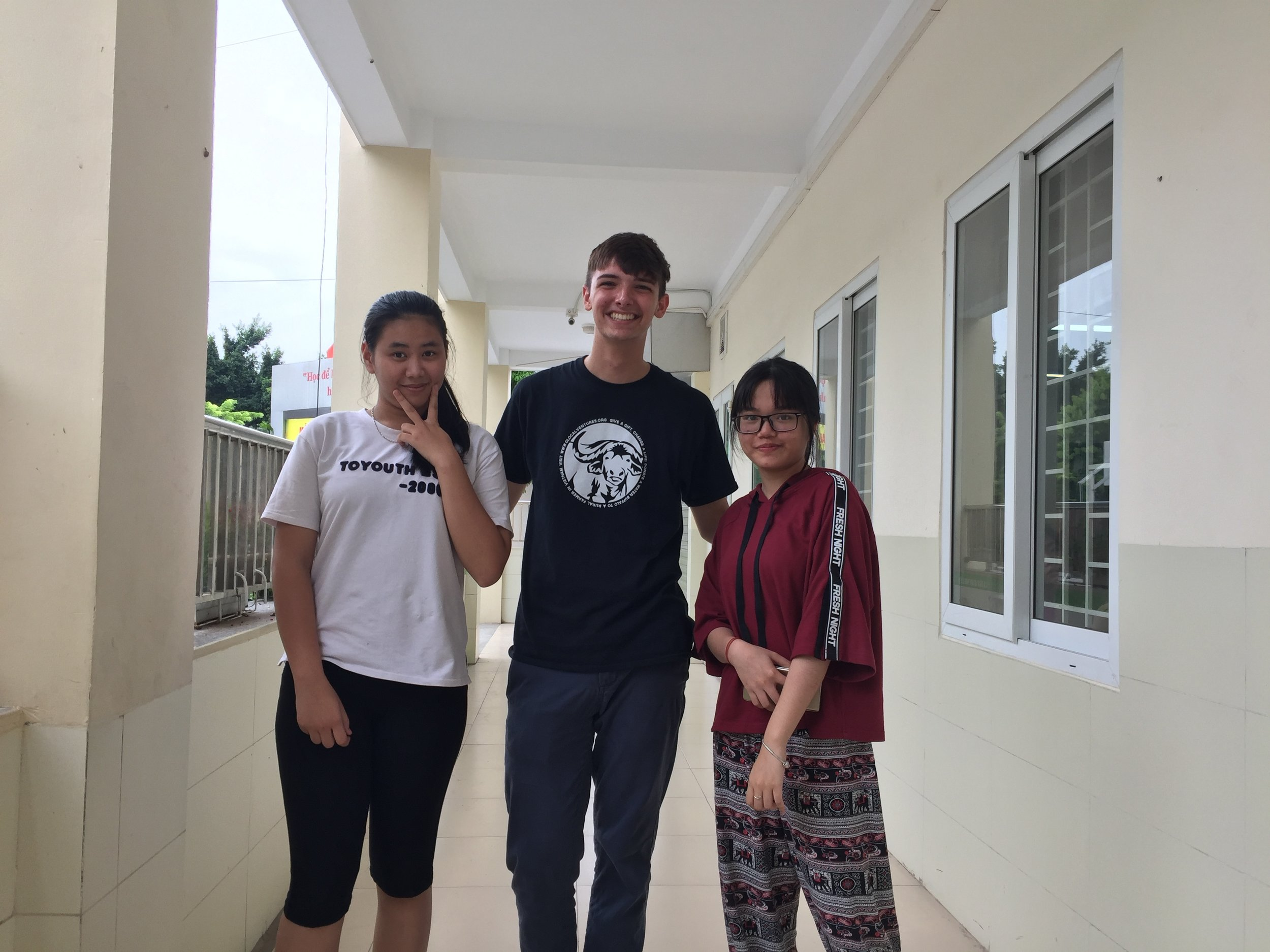 Linh and Hương, the high school volunteers who've helped me with the classes.