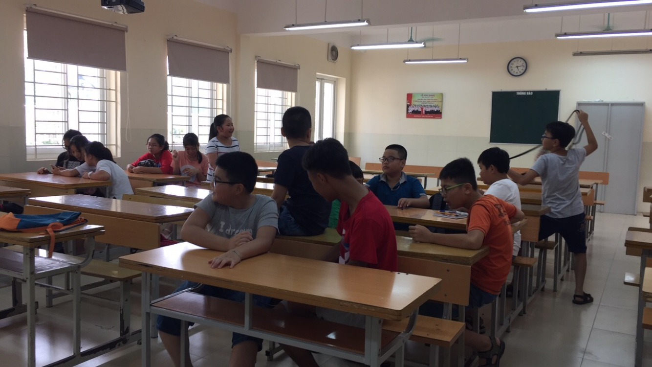 Class 6B at 7:59, right before the lesson started.