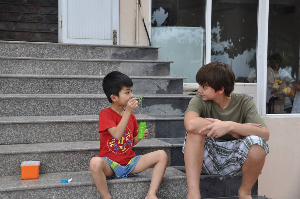 July 5th 2013 - Austin and Hoang Anh hanging out at Summer Camp