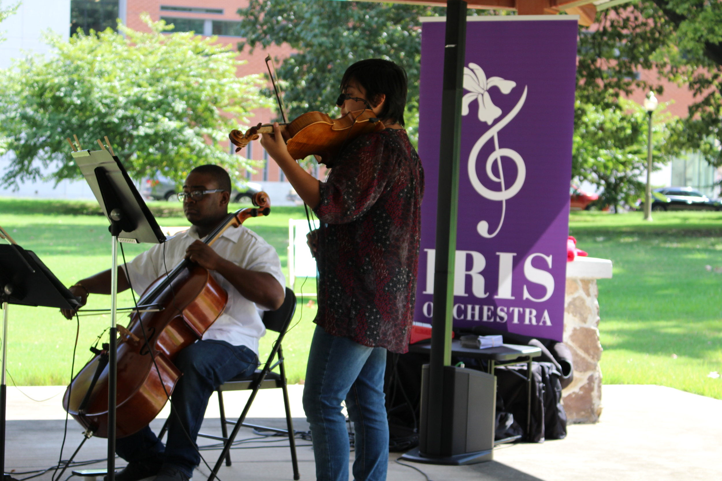 IRIS Orchestra - Free Concerts - MMDC partnered with IRIS Orchestra to present free concerts on four consecutive Fridays in September and October 2018 at Health Sciences Park, as well as a finale concert at Treedom Memphis. Over 100 people attended these events. We will continue this program in 2019 – check back for updates on time and dates.