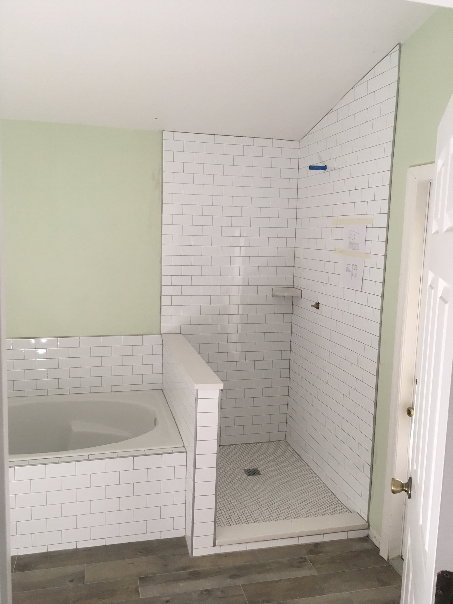 Bathroom Remodel Final Step Tile And Paint All Time