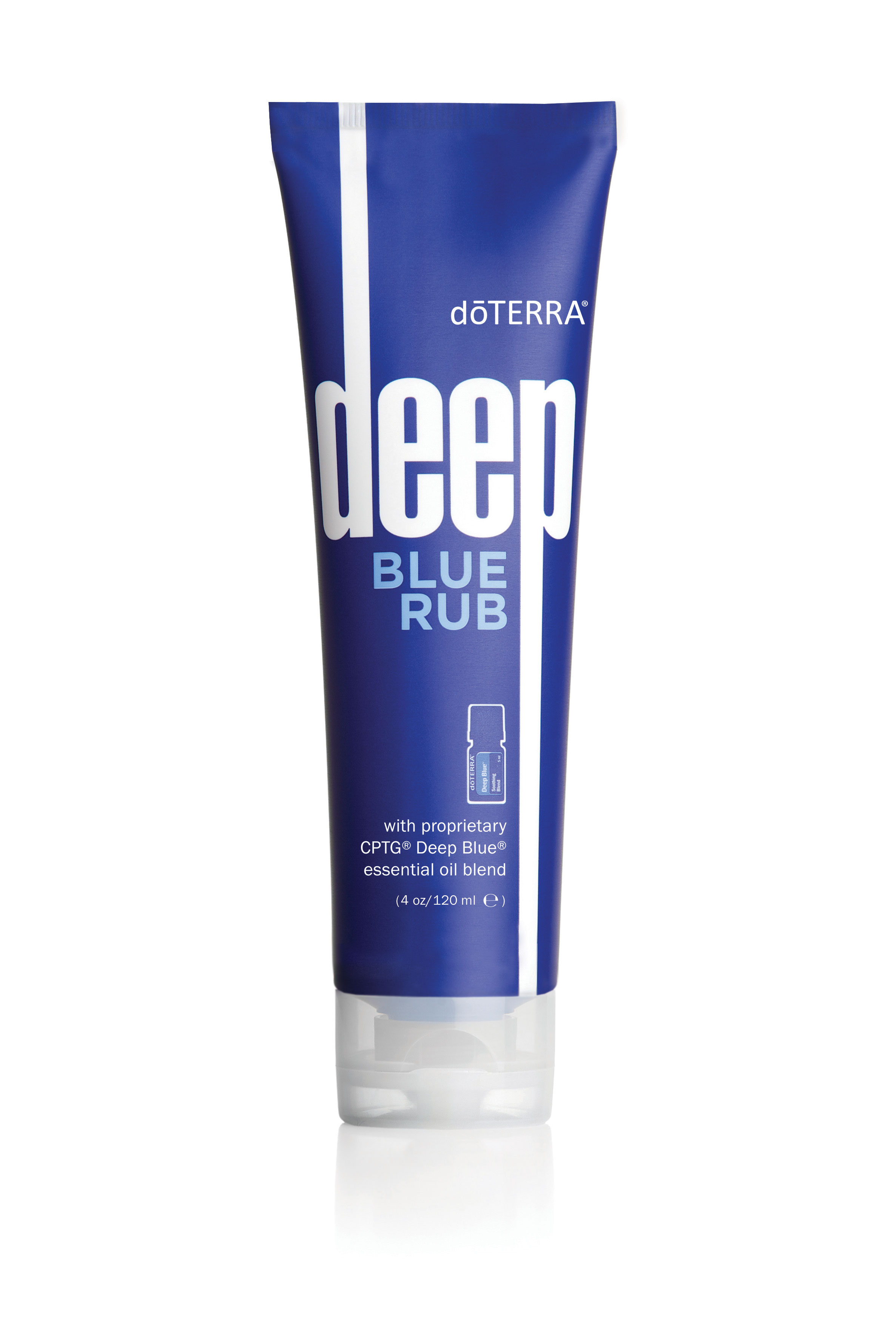 doTERRA®Deep Blue Rub is a topical cream formulated with Deep Blue Soothing Blend of CPTG Certified Pure Therapeutic Grade®essential oils, natural plant extracts, and additional helpful ingredients that provides a comforting sensation of cooling and warmth to problem areas. -