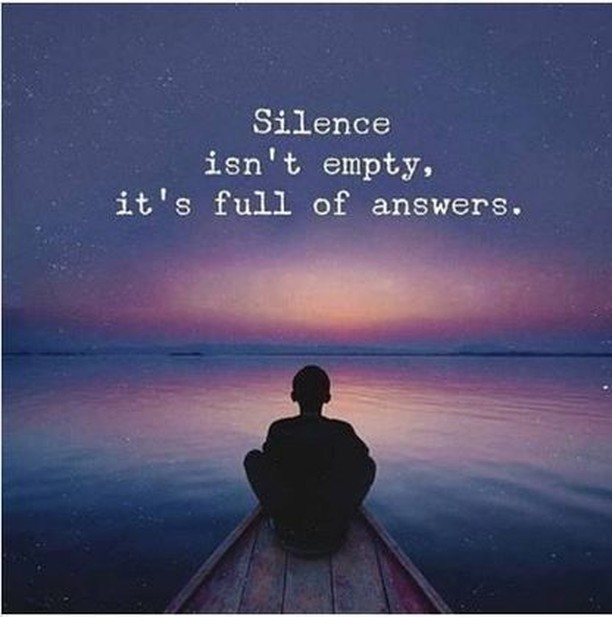 Don't be afraid of silence, embrace it. It might help you find what you are looking for.