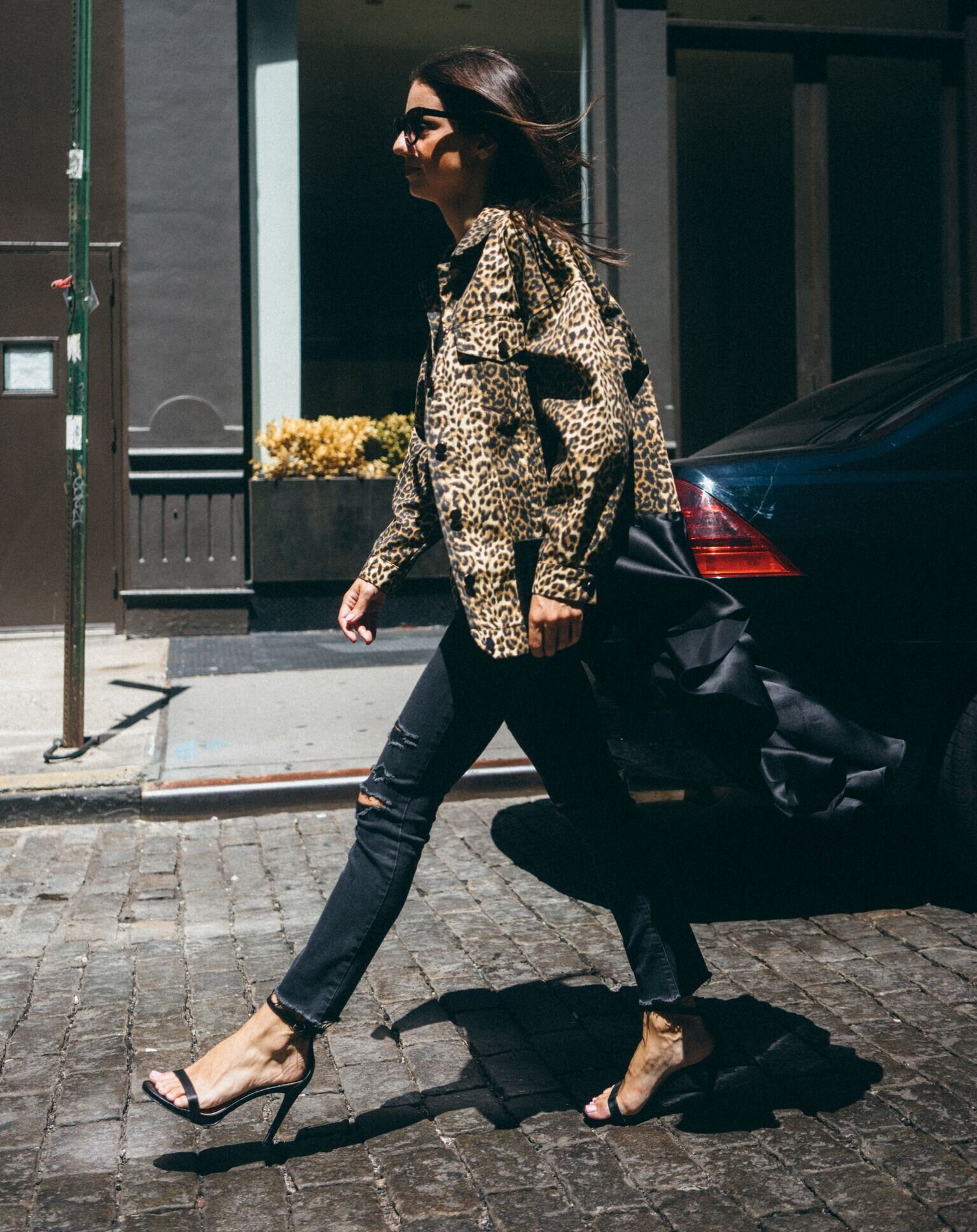 Have it All Jacket - printed twill jacket with attached silk charmeuse silk  available in leopard and camouflage
