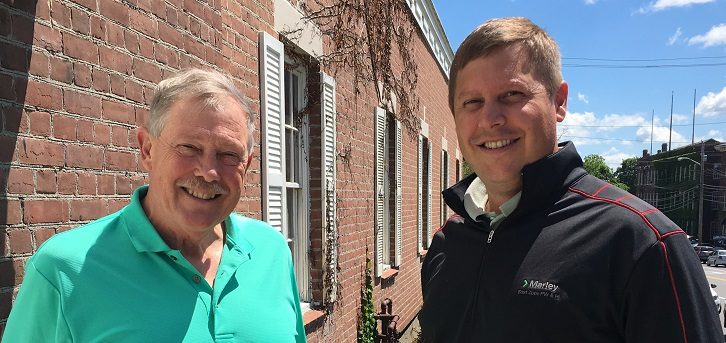 Former and current owners Lou Griffith (L) and Jeff Penterson (R)