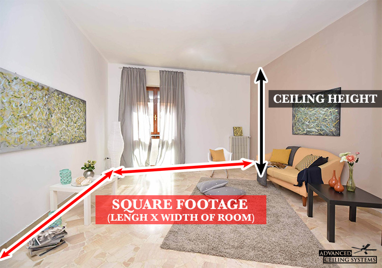 How to determine ceiling fan size - advancedceilingsystems.com