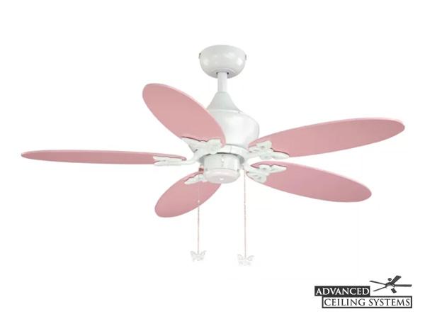 Cute baby girl ceiling fans for nursery