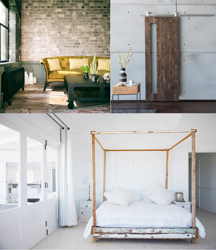 Rustic industrial home decor style