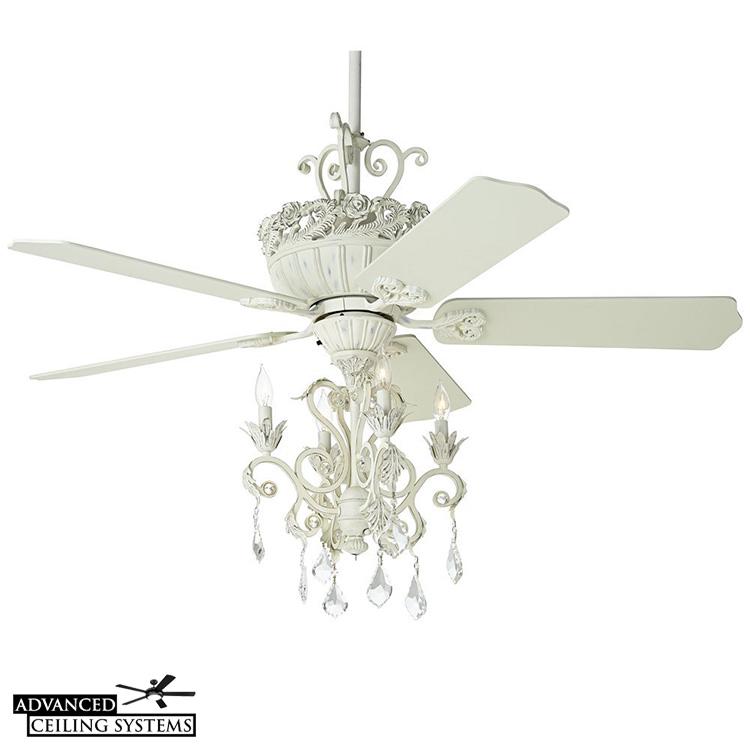 Shabby chic chandelier ceiling fan - Casa Vieja