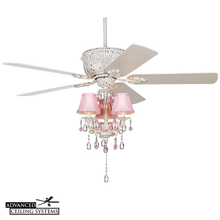 shabby chic ceiling fan with light