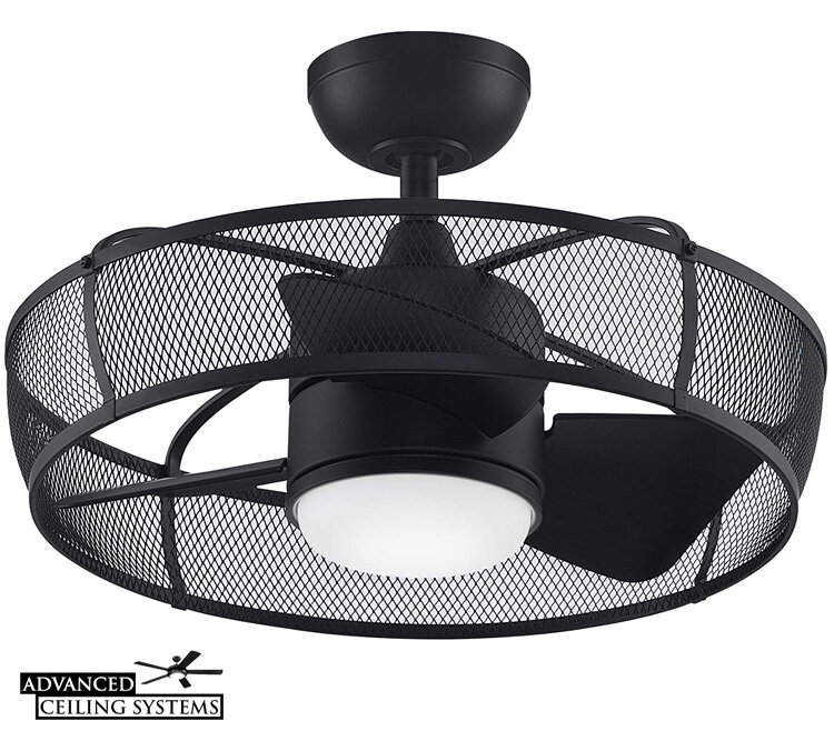 8 Eye Catching Cage Enclosed Ceiling Fans You Ll Love Advanced Ceiling Systems