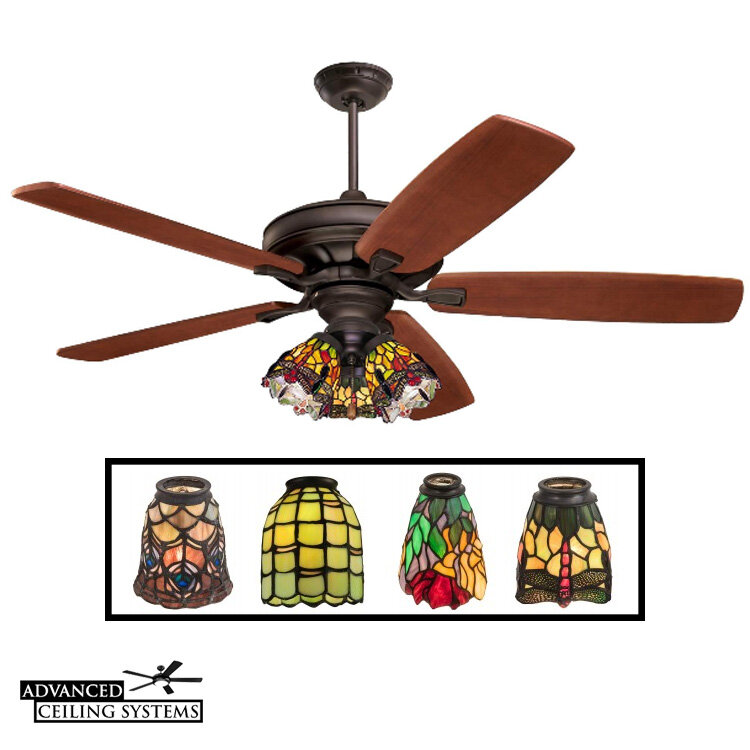 These Stained Class Ceiling Fans Will Add Color And Style To Any Home Advanced Ceiling Systems