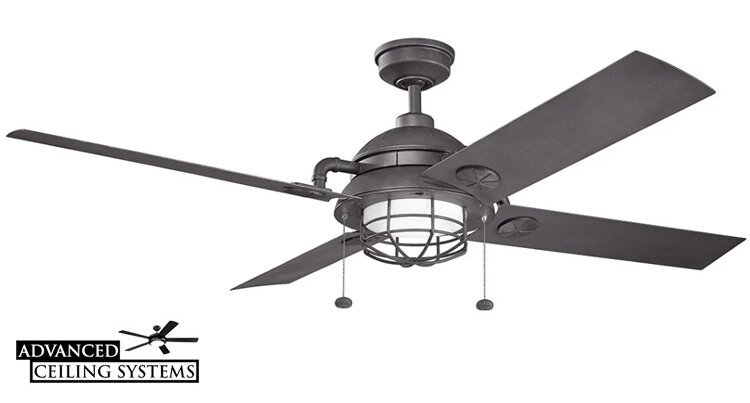 17 Black Industrial Ceiling Fans For Any Space Black Wood And Metal Finishes Advanced Ceiling Systems