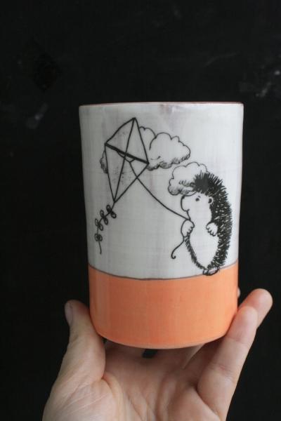 Darn Pottery Cute Hedgehog SallyMack Chapel Hill