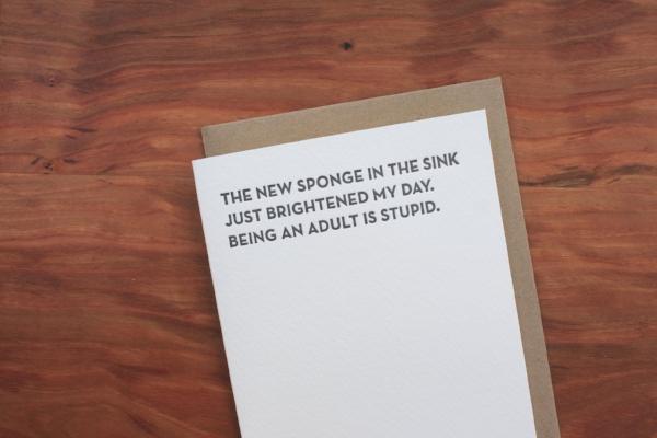 Funny Card Sapling Press SallyMack Chapel Hill